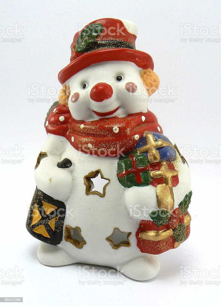 xmas snow man royalty-free stock photo