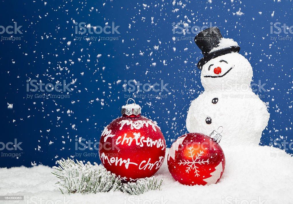 Xmas Snowman royalty-free stock photo