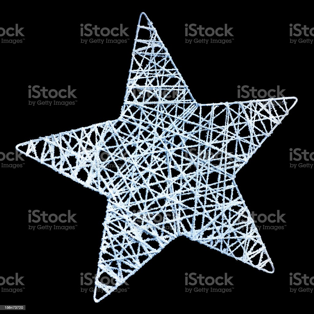 Xmas star on black background stock photo