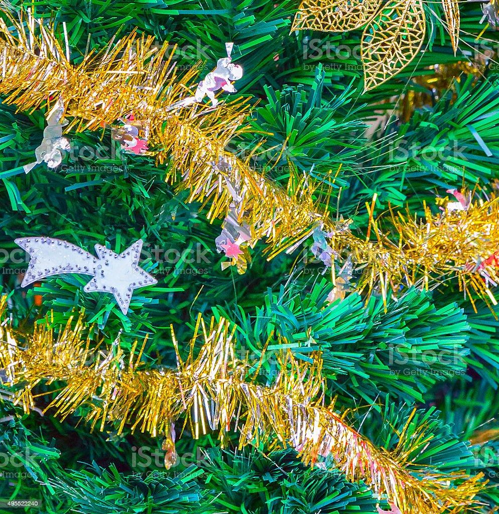 xmass tree decoration stock photo