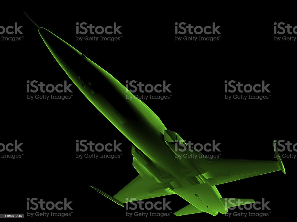 X-ray 3D fighter jet royalty-free stock photo