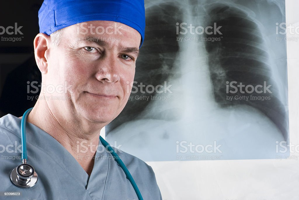 X-Ray and Doctor royalty-free stock photo