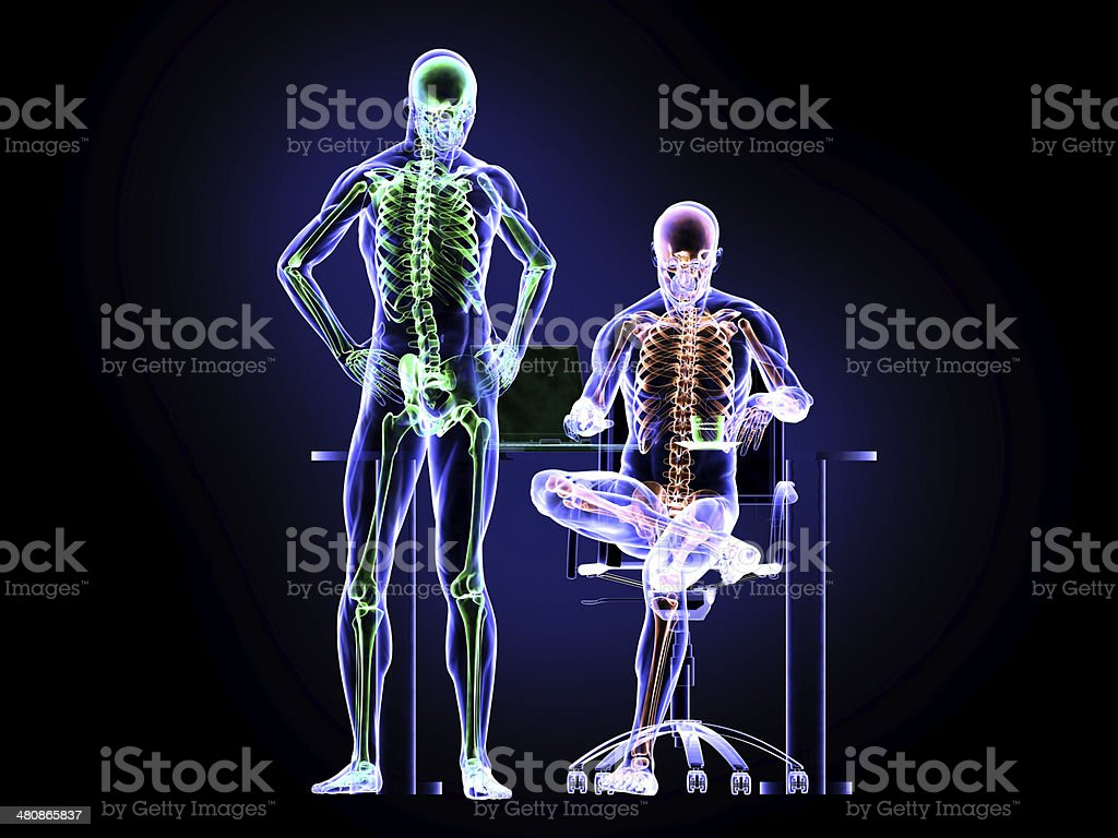 X-Ray and Workers royalty-free stock photo