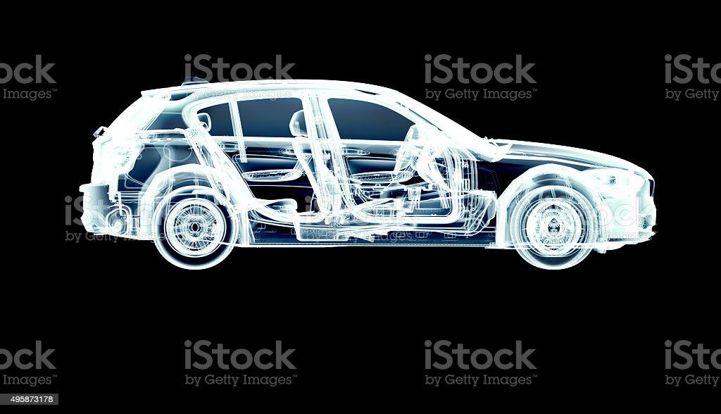xray car isolated on black stock photo