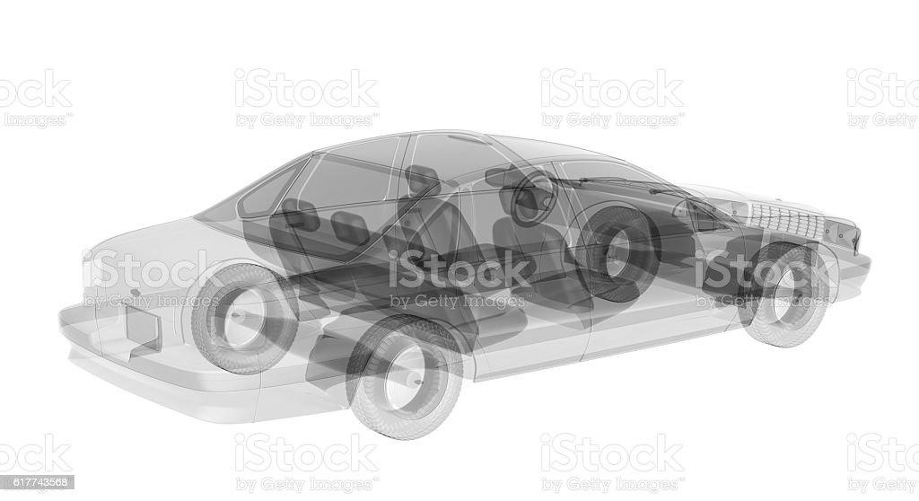 X-ray car isolated stock photo