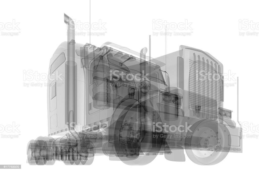 X-ray car isolated stock photo