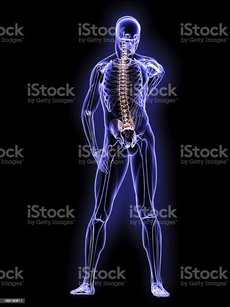 X-Ray Defective Nervous System stock photo