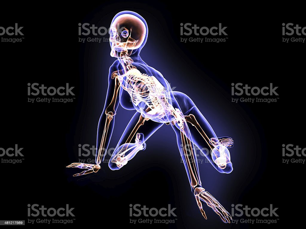 X-Ray Girl and Sexy Position stock photo