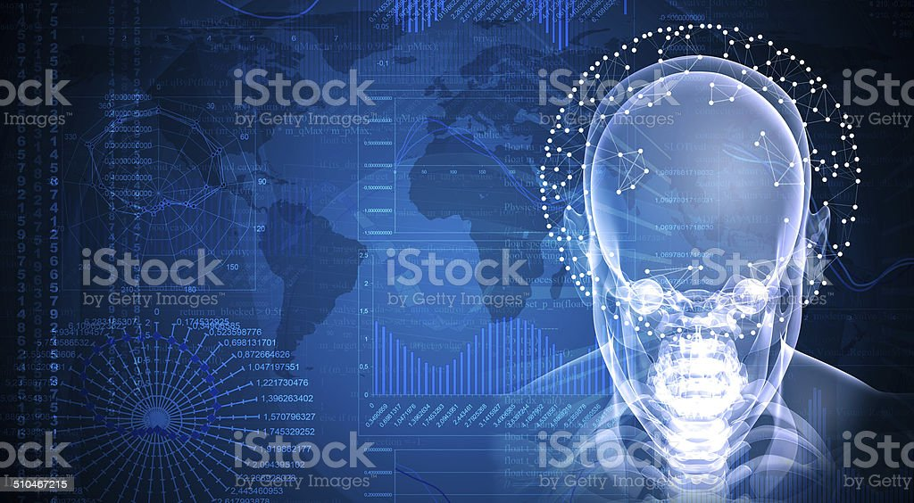 X-ray image of head stock photo