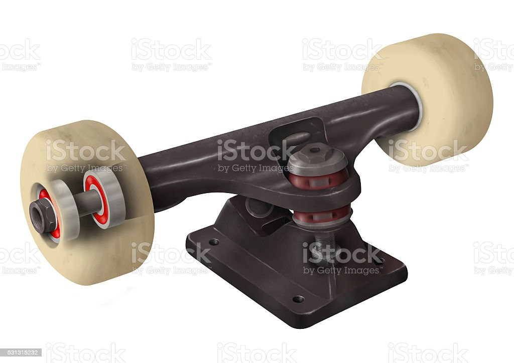X-ray of a Skateboard Truck stock photo