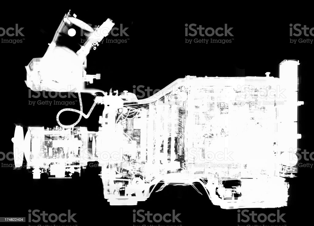X-Ray of a Video Camera stock photo