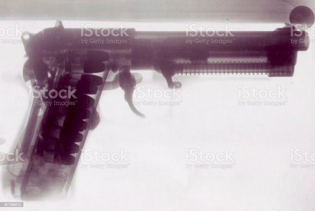 X-Ray Pistol royalty-free stock photo
