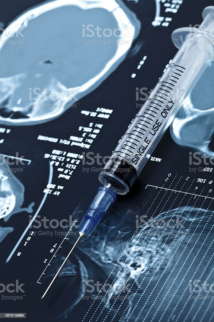 x-rays and syringes. royalty-free stock photo