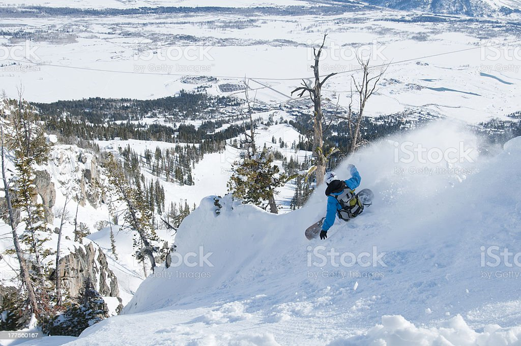 Xtreme backcountry stock photo