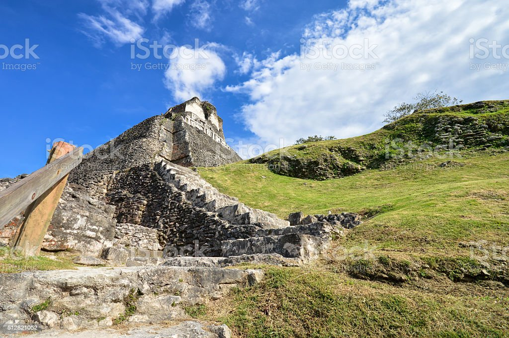 Xunantunich archaeological site of Mayan civilization in Belize stock photo