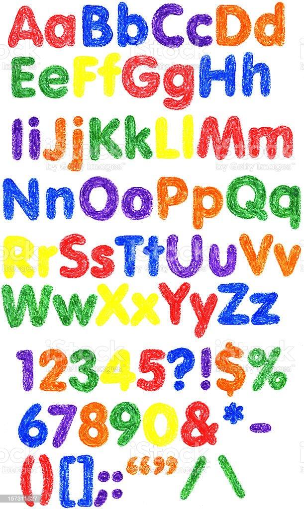 Crayon Alphabet XXL stock photo