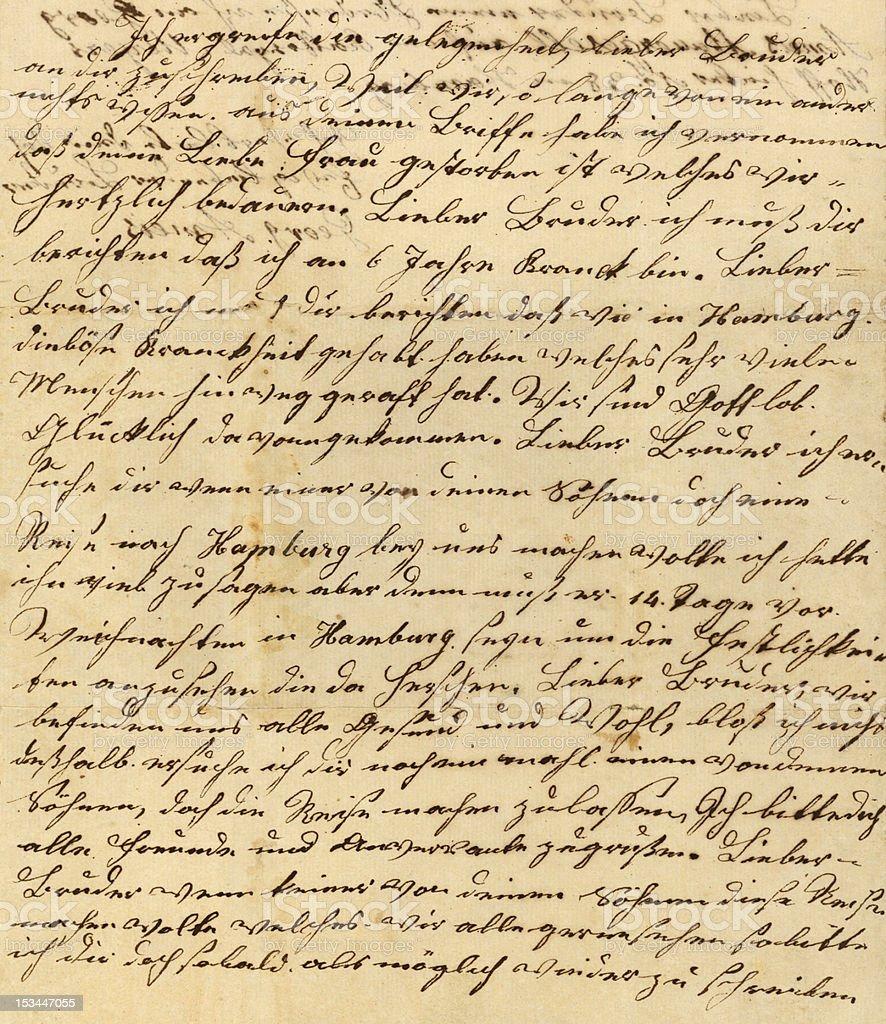 XXLarge Antique German Writing 1833 stock photo