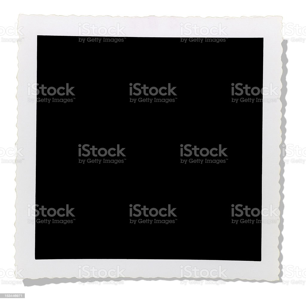 XXLarge Cut-out Photo Frame 1960s royalty-free stock photo