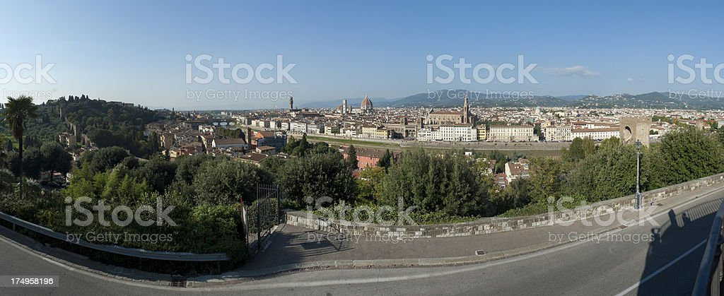XXXLarge Cityscape of Florence in Italy seen from piazzale miche stock photo