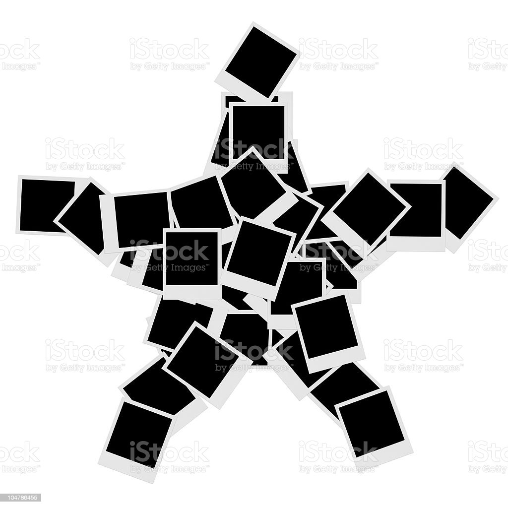 XXXLarge Star of Polaroids royalty-free stock photo