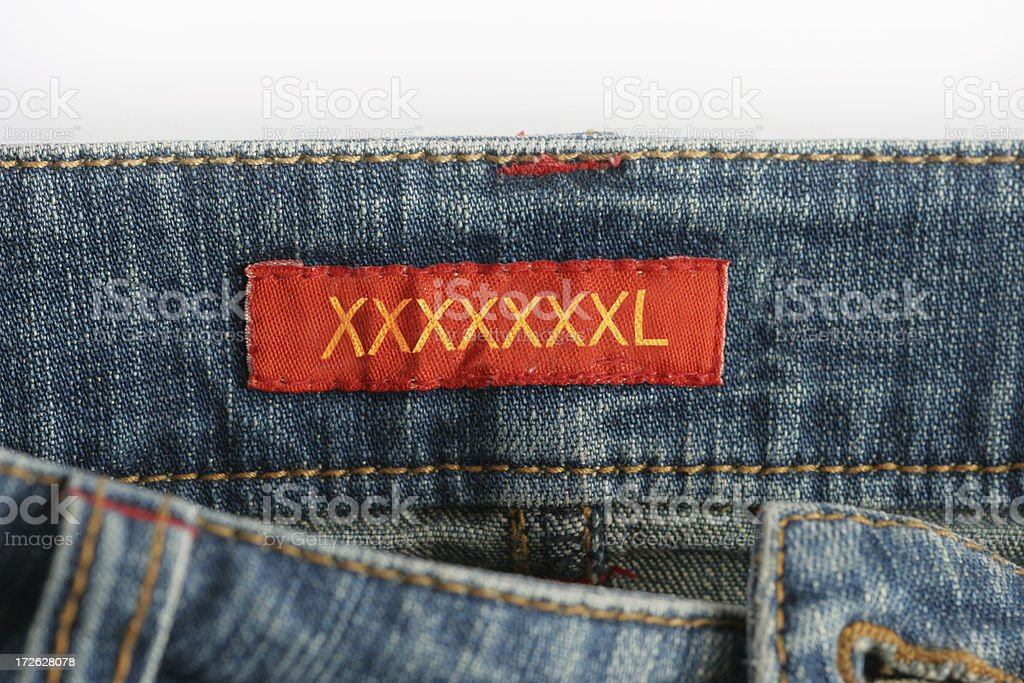 xxxxxlarge jeans stock photo