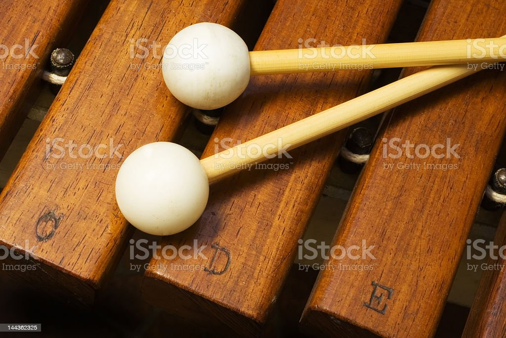 Xylophone and Mallets stock photo
