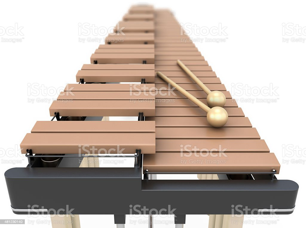 Xylophone close-up on a white background stock photo