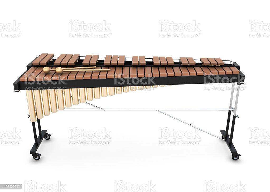 Xylophone on a white stock photo