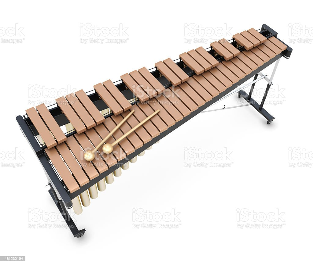 Xylophone on a whitre stock photo