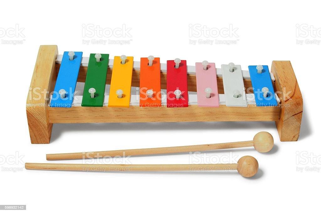 Xylophone on white stock photo