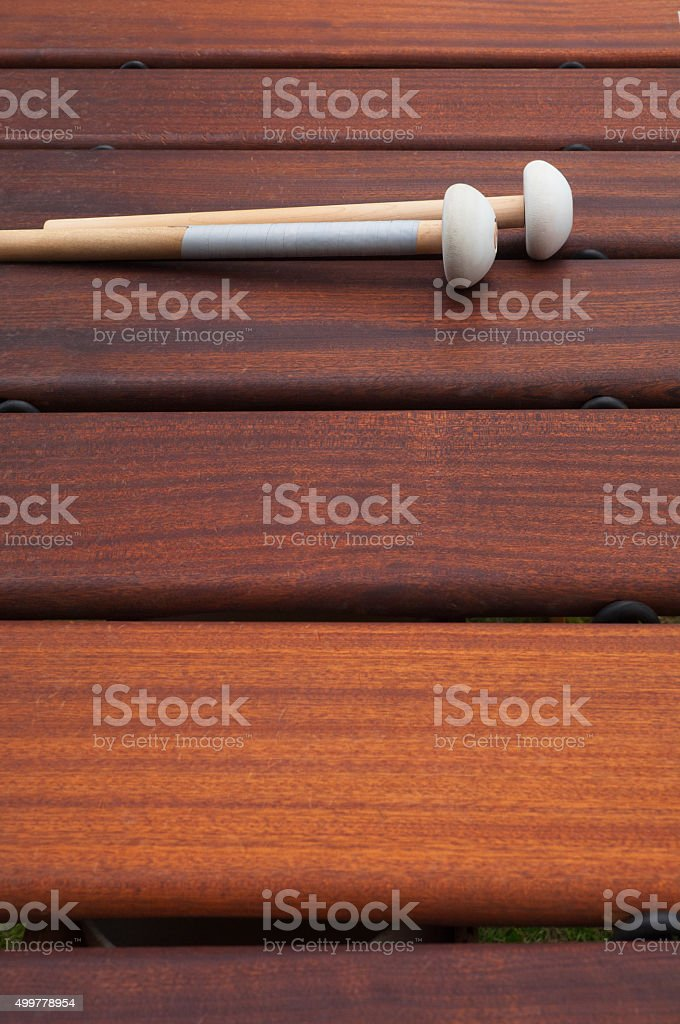 Xylophone with mallets stock photo