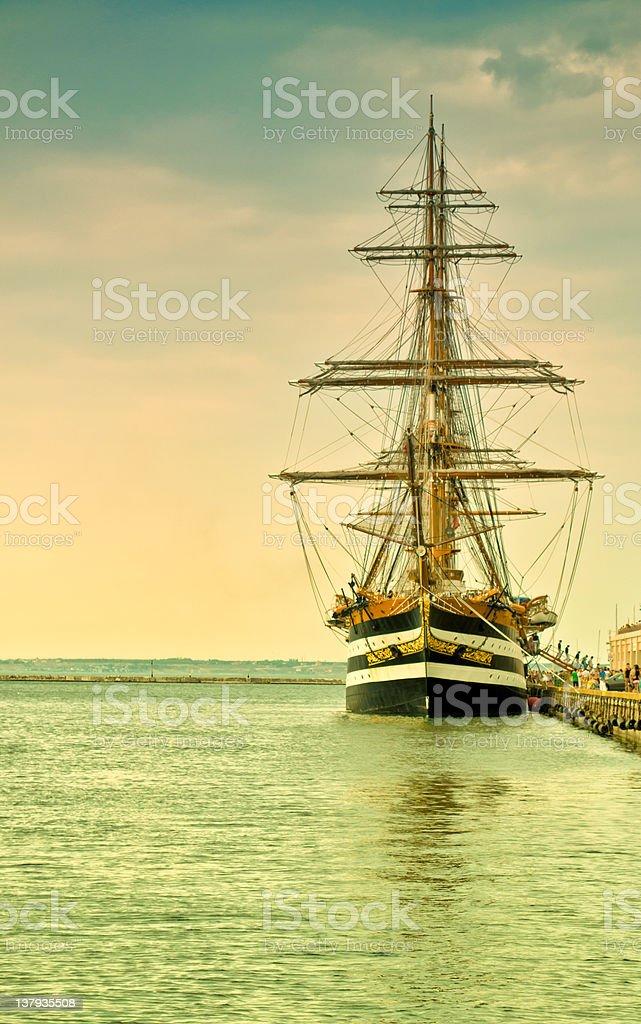 Yacht americo vespucci stock photo