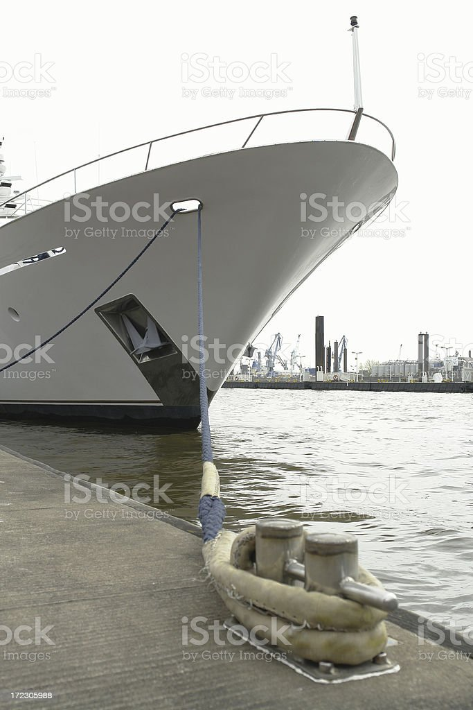 Yacht Bow royalty-free stock photo