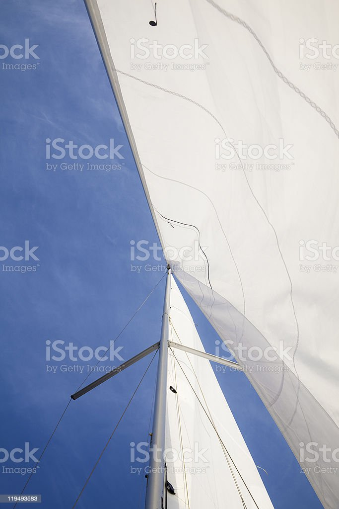 yacht canvases stock photo
