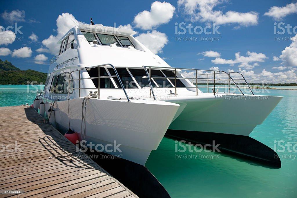 Yacht Catamaran Boat royalty-free stock photo