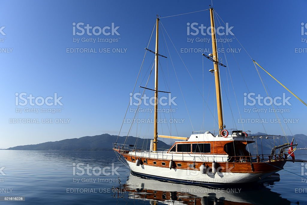 yacht charter in Turkey - gulet in Marmaris stock photo