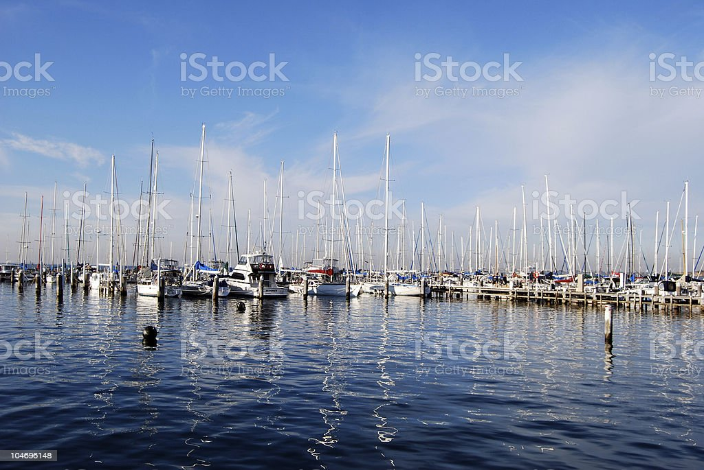 Yacht Club Marina, Geelong Australia royalty-free stock photo
