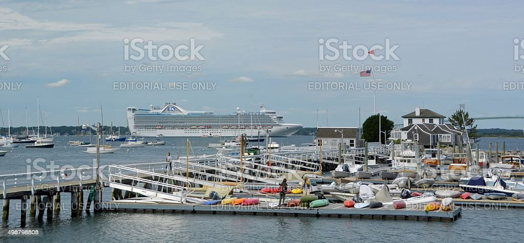 Yacht Club Newport stock photo