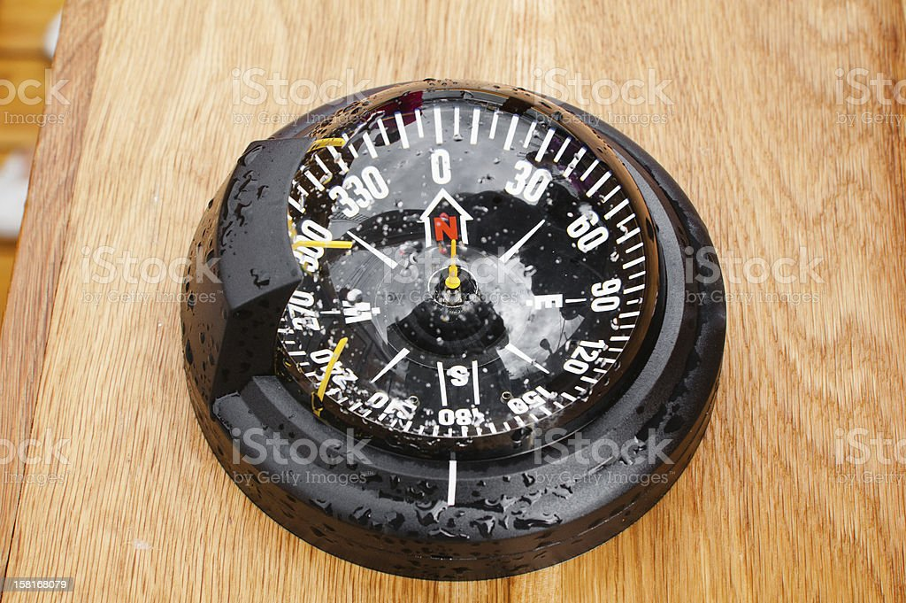 yacht compass, close-up royalty-free stock photo