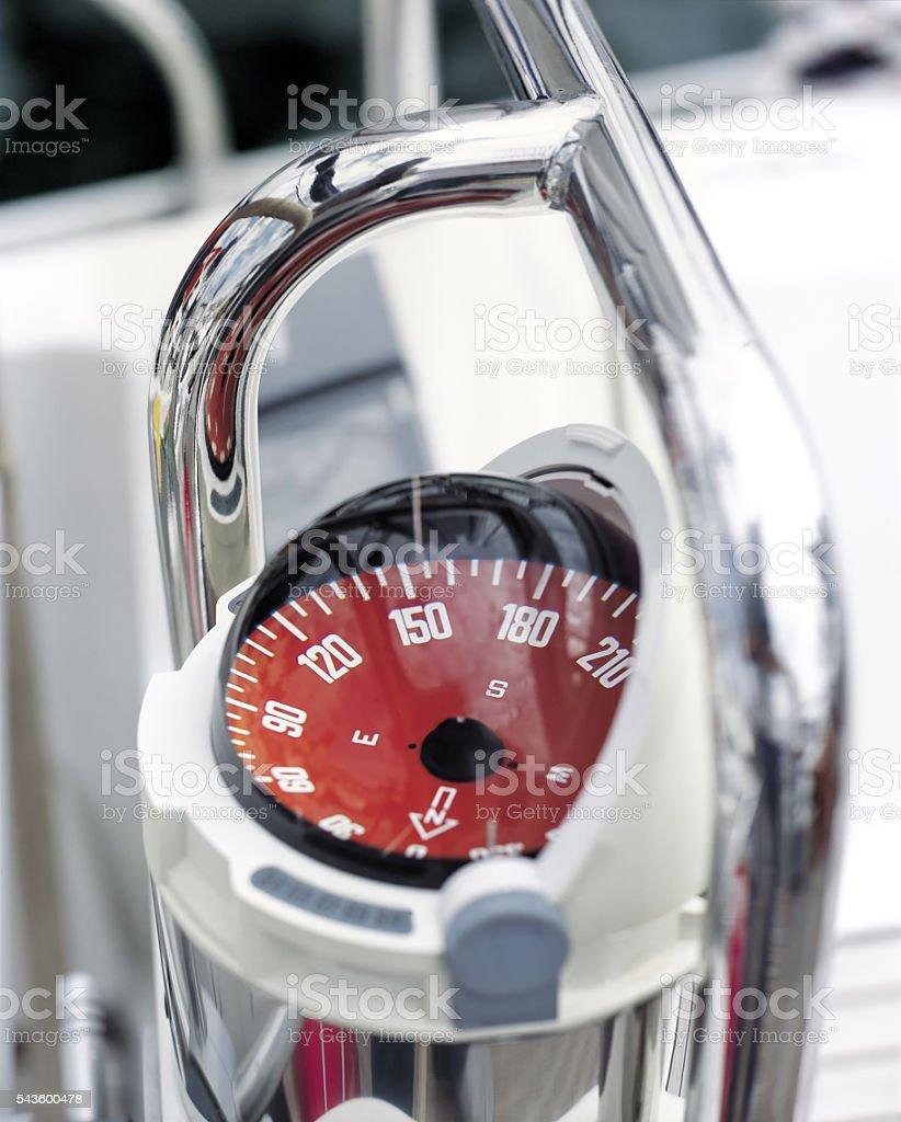 Yacht compass stock photo