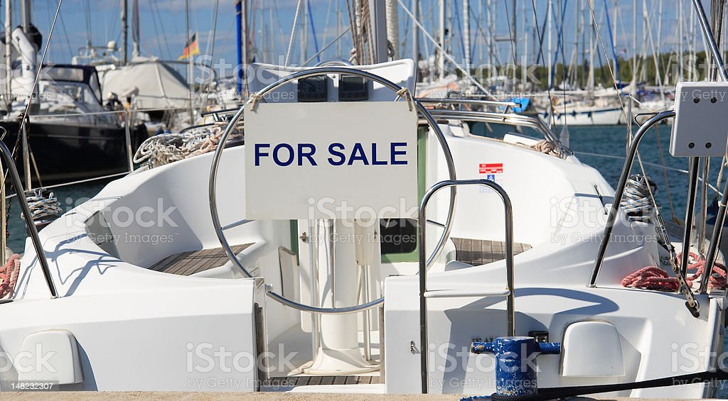 yacht for sale stock photo
