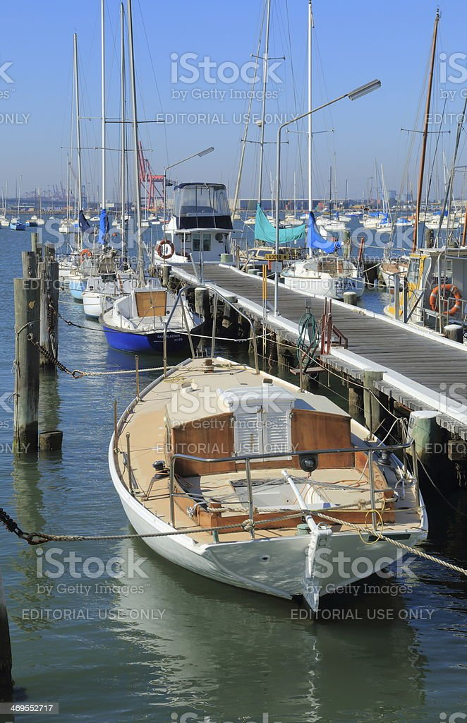 Yacht habour stock photo