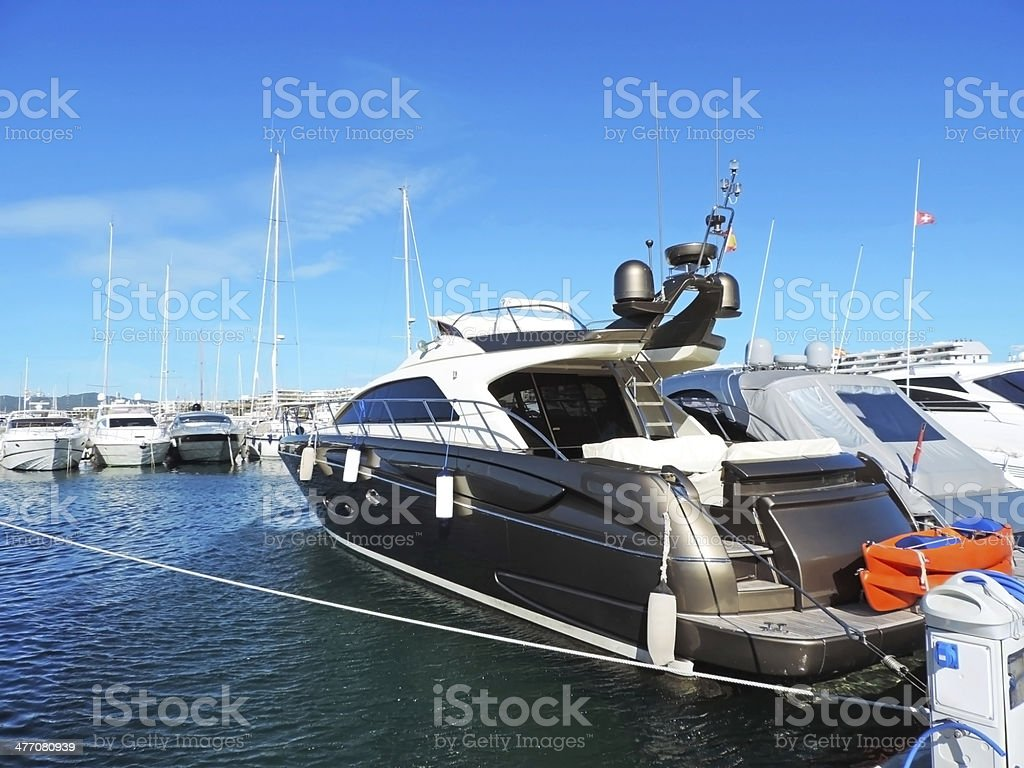Yacht harbor royalty-free stock photo