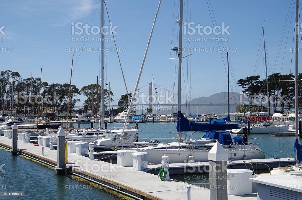 Yacht harbor de foto de stock libre de derechos