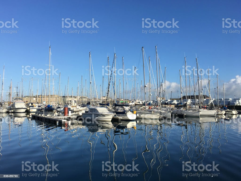 Yacht Harbour of St Malo stock photo