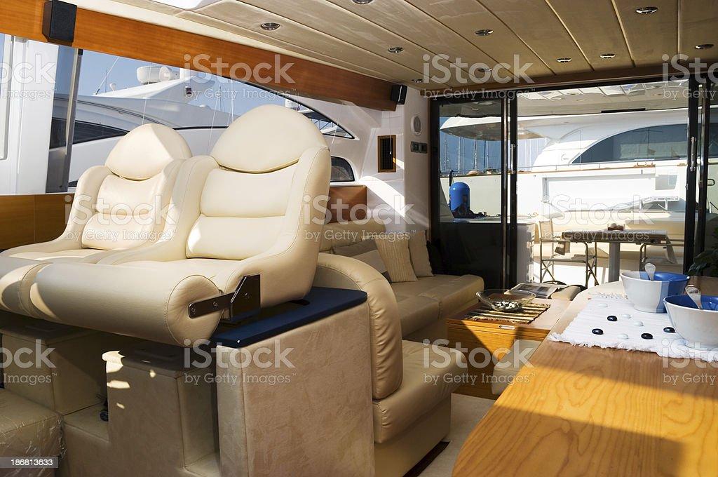 Yacht interior royalty-free stock photo