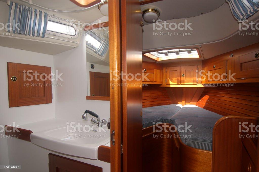Yacht Interiors 1 royalty-free stock photo