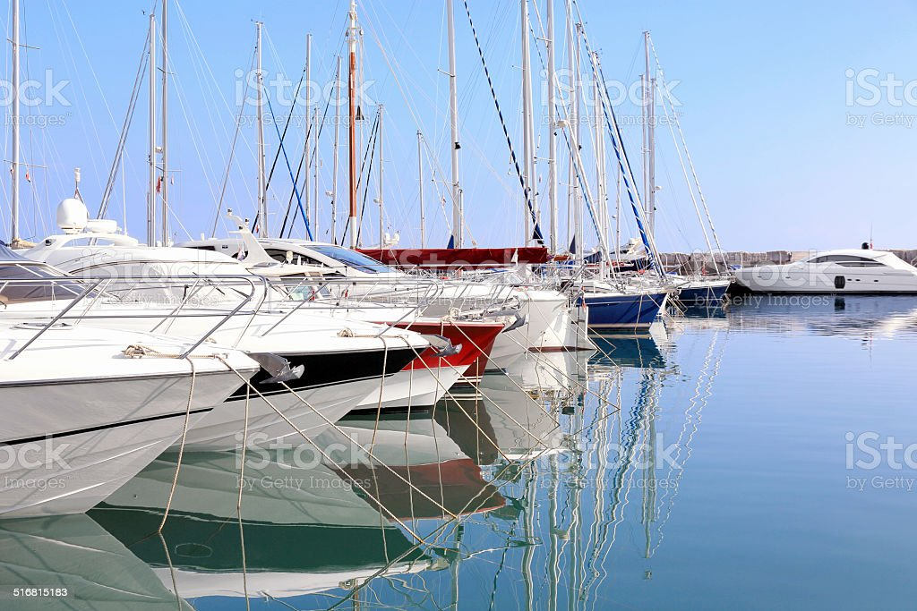 Yacht Marina Icici stock photo