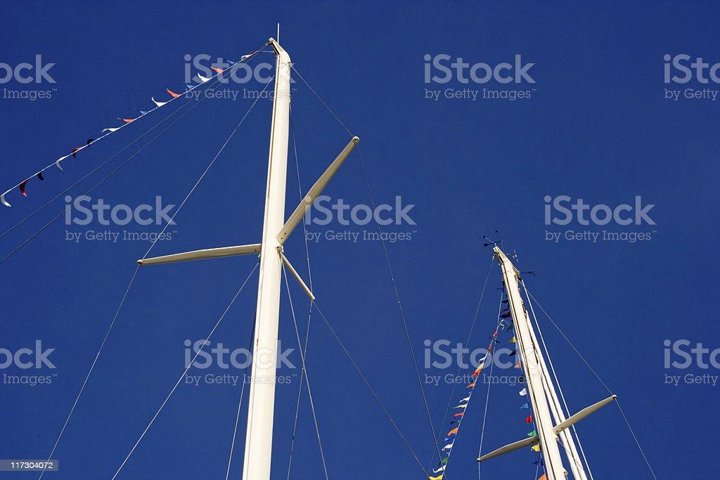 Yacht Masts stock photo