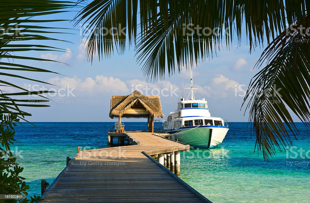 Yacht moored royalty-free stock photo